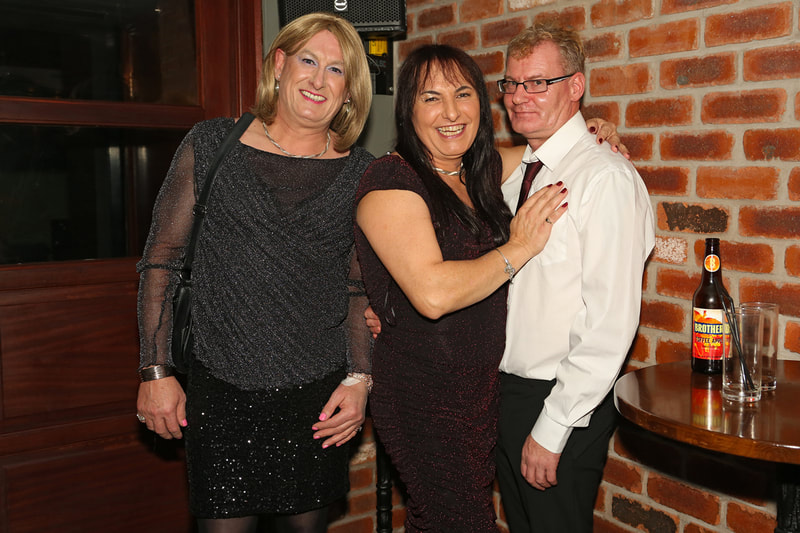 Outskirts Christmas party 17th December 2018 at Eden Bar, Birmingham